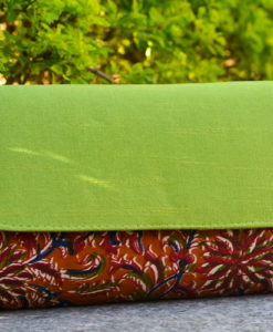 NSA-Bags_Clutches-Kalamkari-Raw-Silk-Clutch-Lime-Green