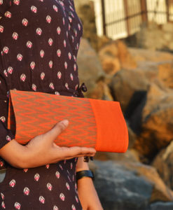 NSA-Bags_Clutches-Ikat-Silk-Clutch_Color-Noise_Orange_01