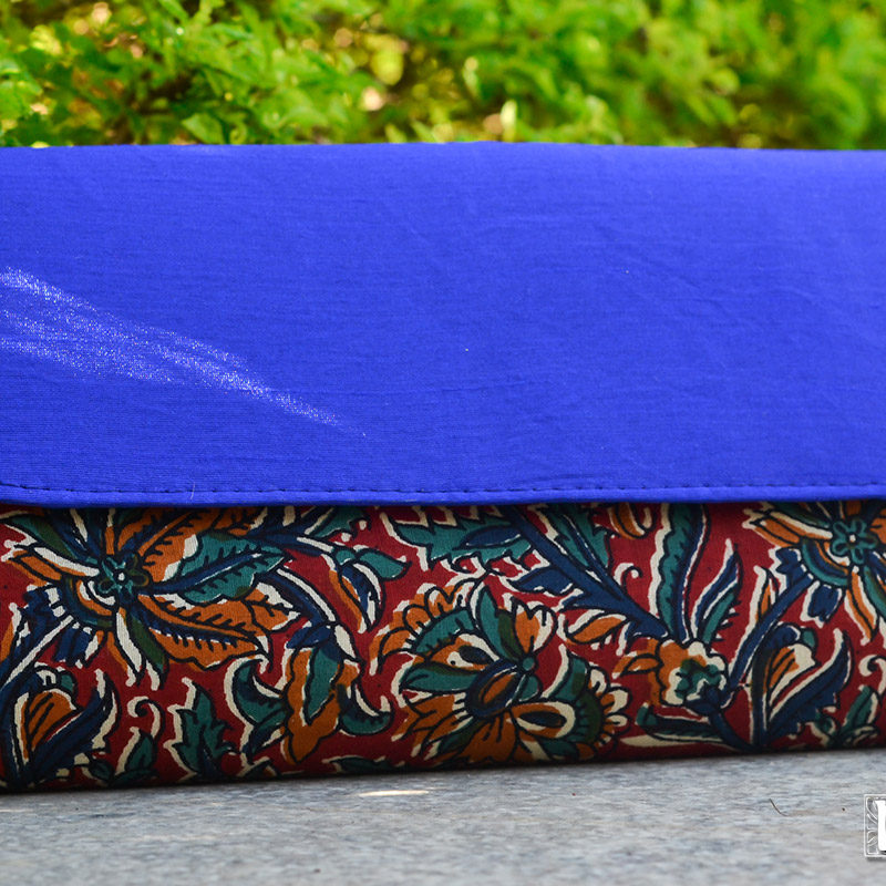 NSA-Bags_Clutches-Kalamkari-Raw-Silk-Clutch-Blue (1)