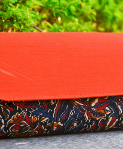 NSA-Bags_Clutches-Kalamkari-Raw-Silk-Clutch-Red