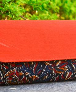 NSA-Bags_Clutches-Kalamkari-Raw-Silk-Clutch-Red